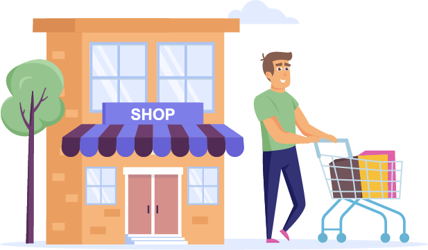 shopper-leaving-store